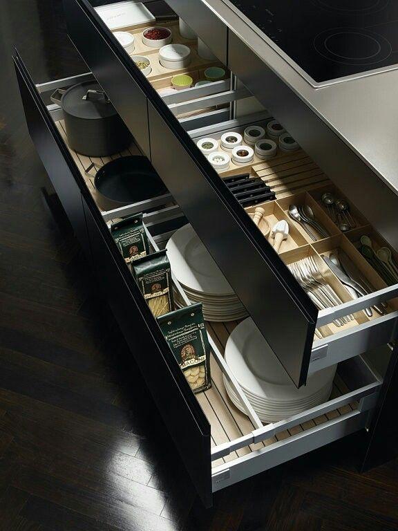 """Cocina moderna. Organizador de utensilios. [Contacto]: > http://nestorcarrarasrl.wordpress.com/contactenos/ Néstor P. Carrara S.R.L """"Desde 1980 satisfaciendo a nuestros clientes"""""""