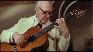 """El Maestro Andres Segovia interpreta """"Leyenda"""" compuesta por by Albeniz"""