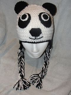gorro oso panda: Hat Crochet Patterns, Craft, Crochet Kids Hats, Crochet Hats, Pandahat, Crochet Headbands Hats, Hat Patterns, Pandas