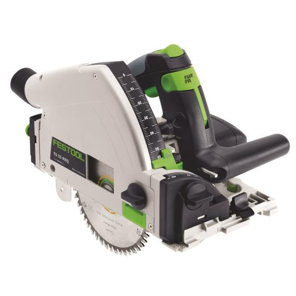 Buy Festool Model TS 55 REQ Plunge Cut Saw with T-Loc and Rail at Woodcraft.com