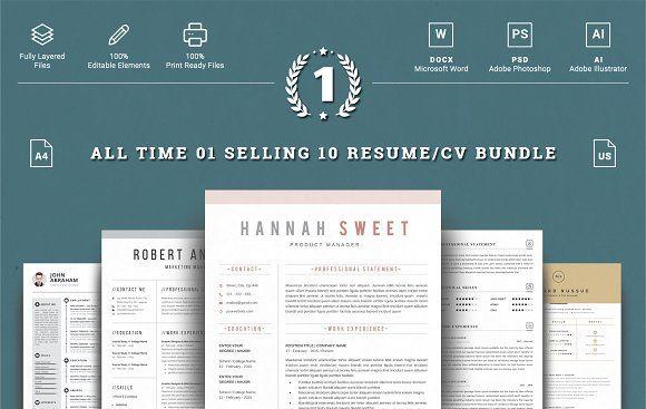 Top 10  Word Resume Bundle @creativework247