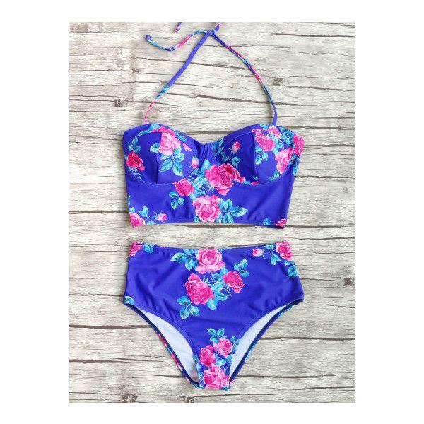 floral high waisted bikini - photo #10