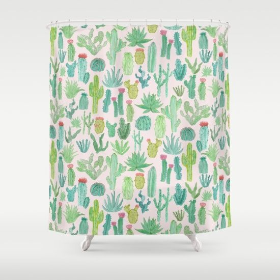Cactus+Shower+Curtain+by+Abby+Galloway+-+$68.00