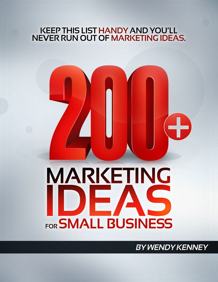 200 + Marketing Ideas for Small Business