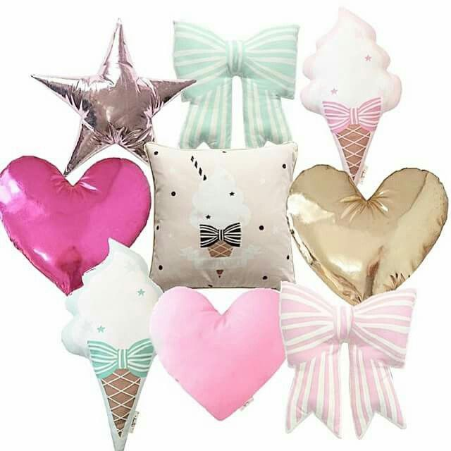 Heart and star cushions $35