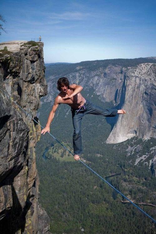 canyon | balance | danger | nature | reckless | scary | heights | death wish | careful | wobble | man on wire | tightrope | walking on air |