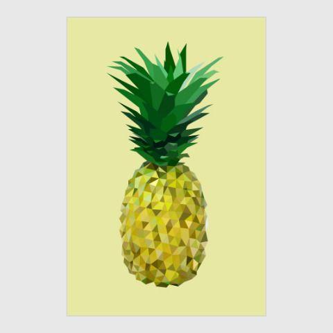 Постер Геометрический ананас - Абстрактные осколки