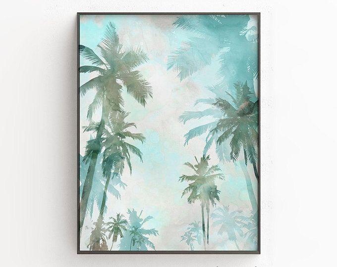Palm Trees Print Minimal Beach Prints Tropical Wall Art Beach