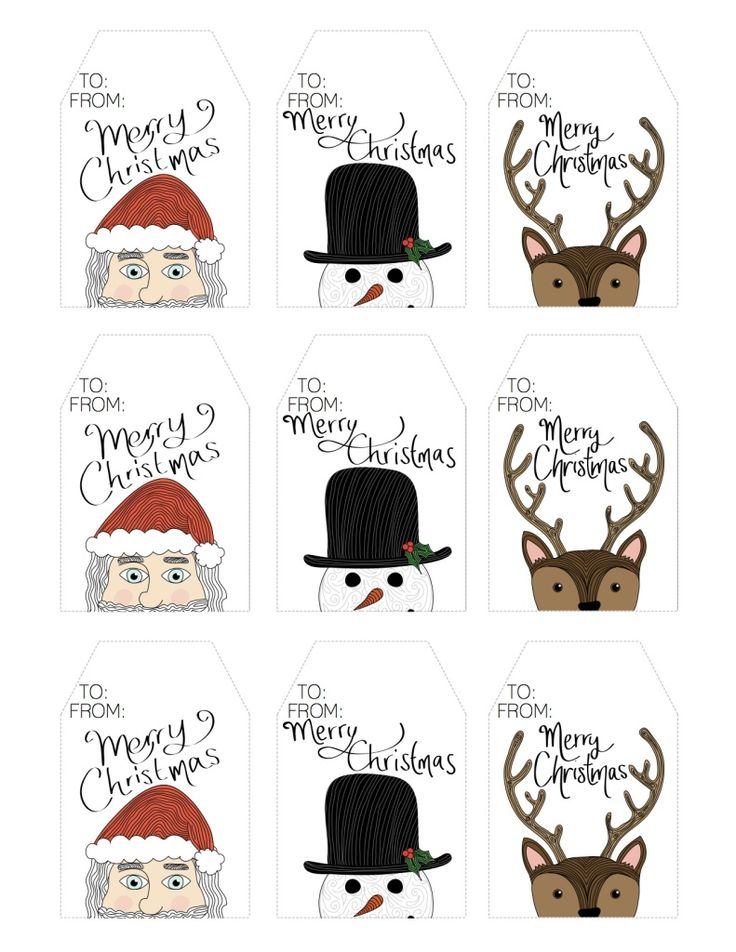 Freebie - Printable Character Christmas Gift Tags - The Crafty Frugaler