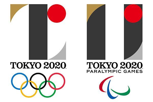 東京2020オリンピックエンブレム(左)と東京2020パラリンピックエンブレム(右)