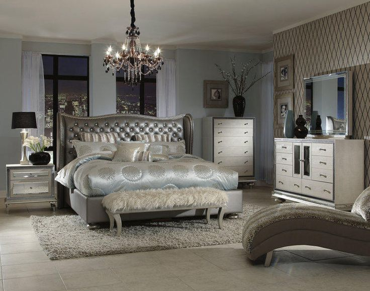 black and silver bedroom furniture. the hollywood swank formal bedroom collection in silver black and furniture