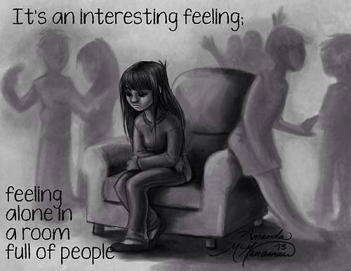 Feeling alone in a room full of people...and wishing you had chosen to just stay home.