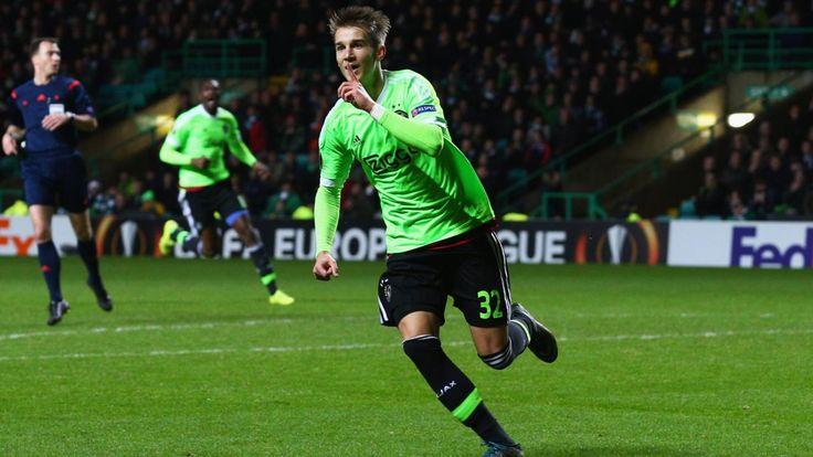 Vaclav Cerny bezorgde Ajax twee minuten voor tijd de zege op Celtic Park: 2-1. © Getty Image