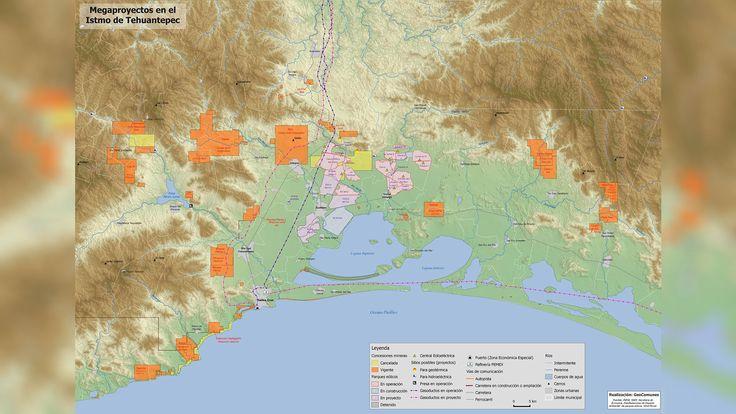 Elaboran mapa de megaproyectos en el Istmo