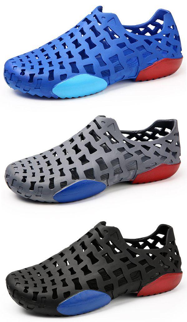 8bf34a885a3 US 18.69 Men Hole Light Weight Garden Water Shoes Soft Beach Sandals shoes   summer  beach