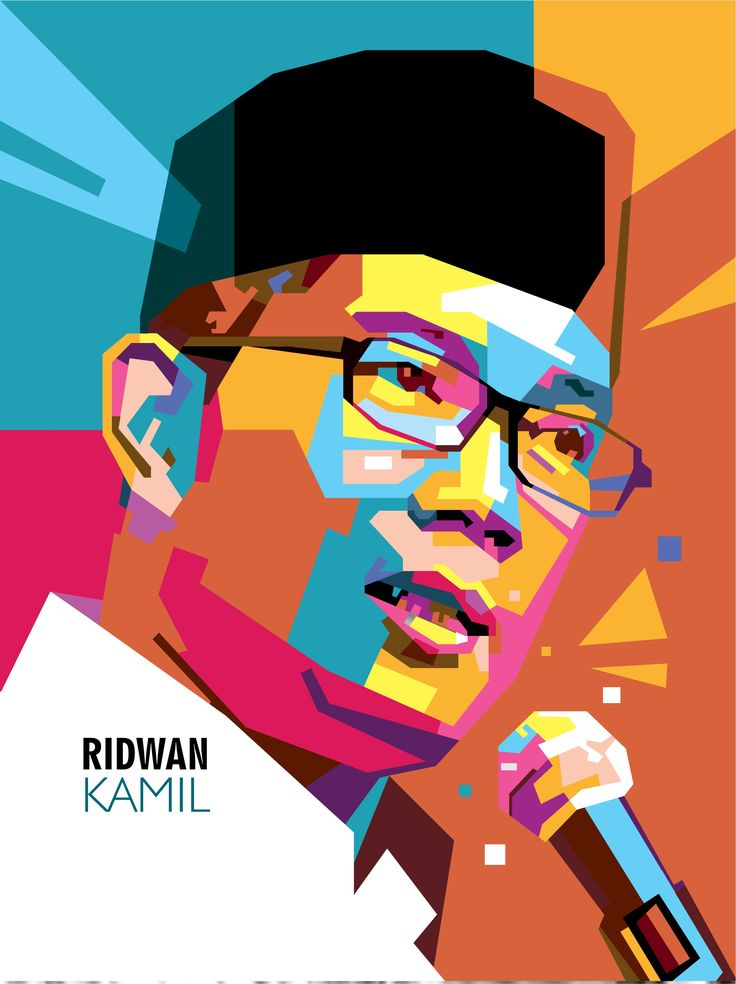 Ridwan Kamil #wpap #popart #ridwankamil #vector #art #graphicdesign #illustration #coreldraw