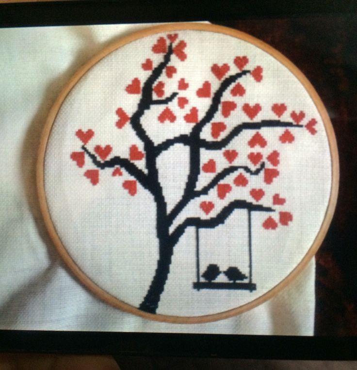 Kanaviçe kuş ağaç