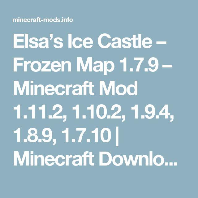 Best 25 minecraft ice castle ideas on pinterest amazing elsas ice castle frozen map minecraft mod publicscrutiny Gallery