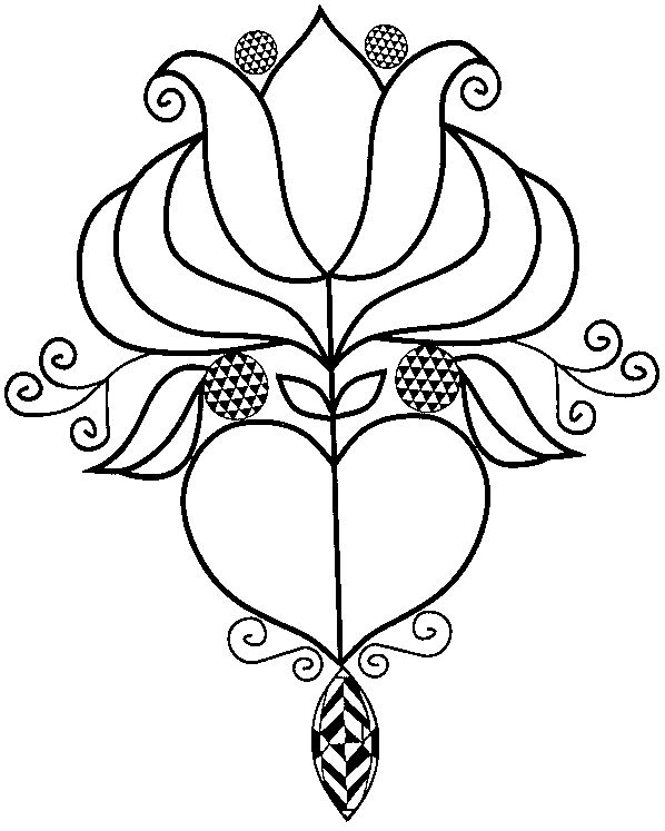 PA Dutch Tulip & Heart