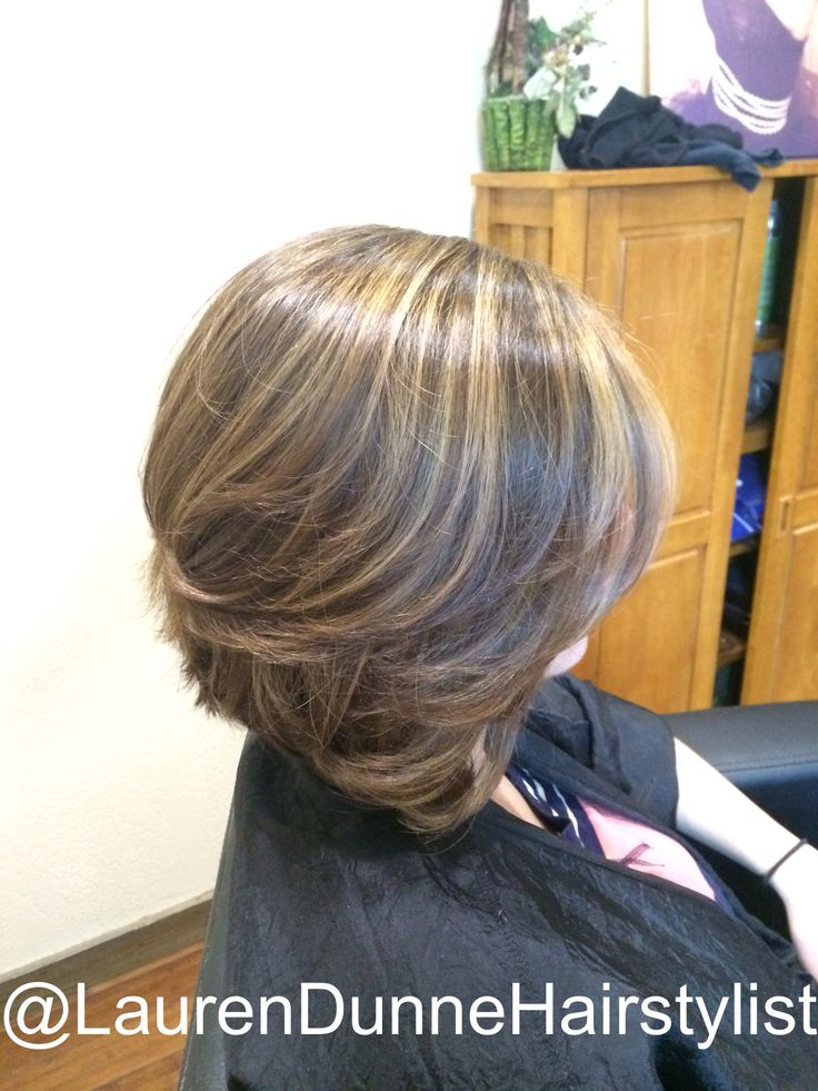 """Long bob """"lob"""" with balayage highlights by Lauren Dunne, Master Stylist at The Secret Garden Spa in Staten Island, NY."""