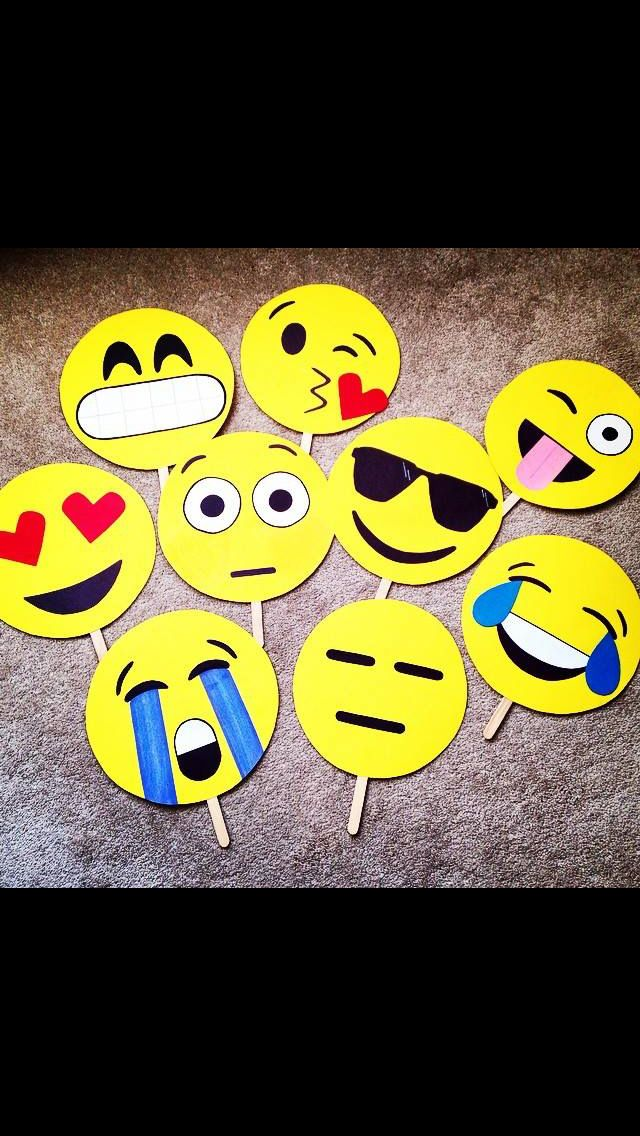 A friend of mine on Facebook made these Emoji Photo Booth props for a birthday party! --Kiersten