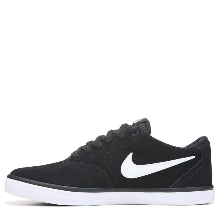 Nike Men's Nike SB Check Solar Suede Skate Shoes (Black/White) - 10.0 M