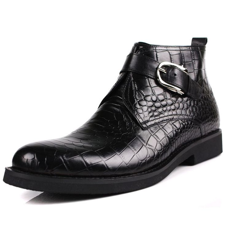 138.95$  Buy here - http://alii8a.worldwells.pw/go.php?t=32787400323 - Plus Size spring men's chelsea boots Sale Genuine Leather crocodile Ankle boots designer black Handmade Dress boots Work 138.95$