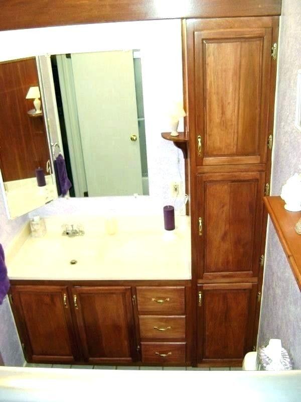 Bathroom Single Sink Vanity With Tower Google Search Bathroom Wall Storage Bathroom Floor Storage Bathroom Floor Storage Cabinet