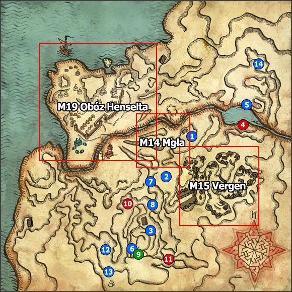 1 - M13 Pontar Valley; M14 Mist - Maps - The Witcher 2: Assassins of Kings Game Guide
