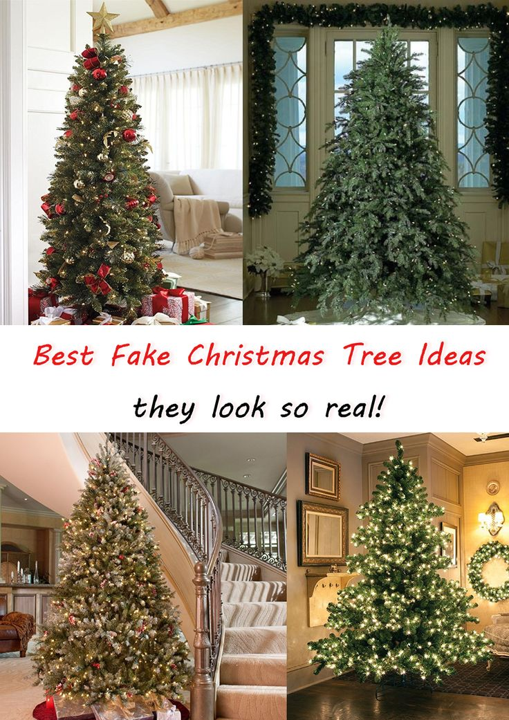 Best fake Christmas Tree ideas - they look REAL!  Cheap and affordable and BEAUTIFUL artificial Xmas trees that we think are most realistic looking. Best Artificial Christmas tree ideas - lots to choose from.  from @involvery - see all the fake trees here:  http://involvery.com/most-realistic-artificial-christmas-tree/
