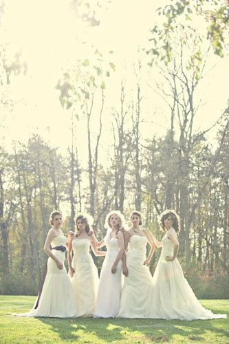 I need this photo with my best girl friends in our wedding dress
