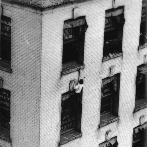 Image result for human fly climbing a building pictures 1920's