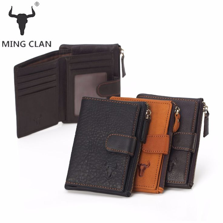 SERB High-Quality Unisex Wallet Fashion Design Genuine Leather Practical Women Purse Men Black Wallets Hasp Zipper 3301-2
