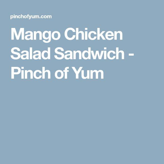 Mango Chicken Salad Sandwich - Pinch of Yum