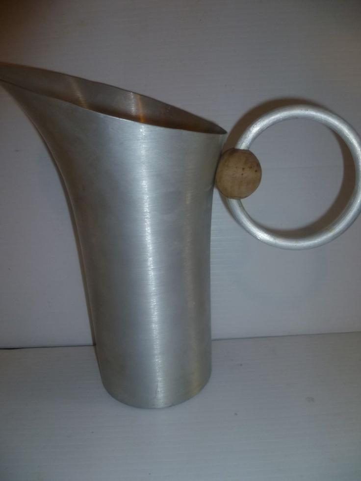 Russel wright aluminum pitcher pour me pinterest - Russel wright pitcher ...