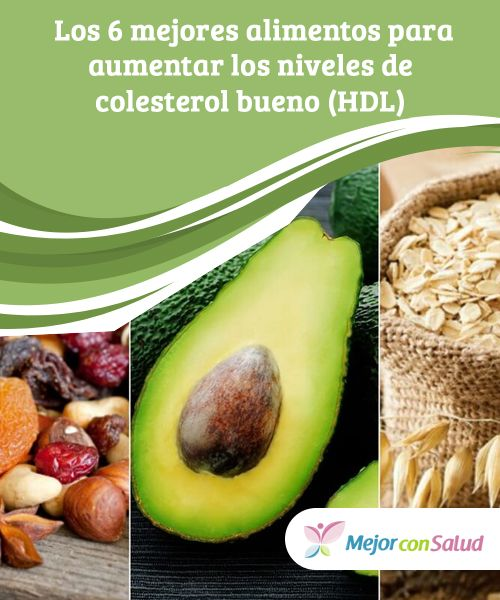Los 6 mejores #alimentos para aumentar los #niveles de #colesterol bueno (HDL)   Aumentar los niveles de colesterol bueno ayuda a prevenir la acumulación de colesterol malo en las arterias. Descubre los 6 alimentos más beneficiosos. #HábitosSaludables
