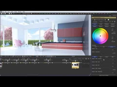 Kitchen Interior in Fusion. Render masks,channel boolean in Blackmagic Fusion 7 - YouTube