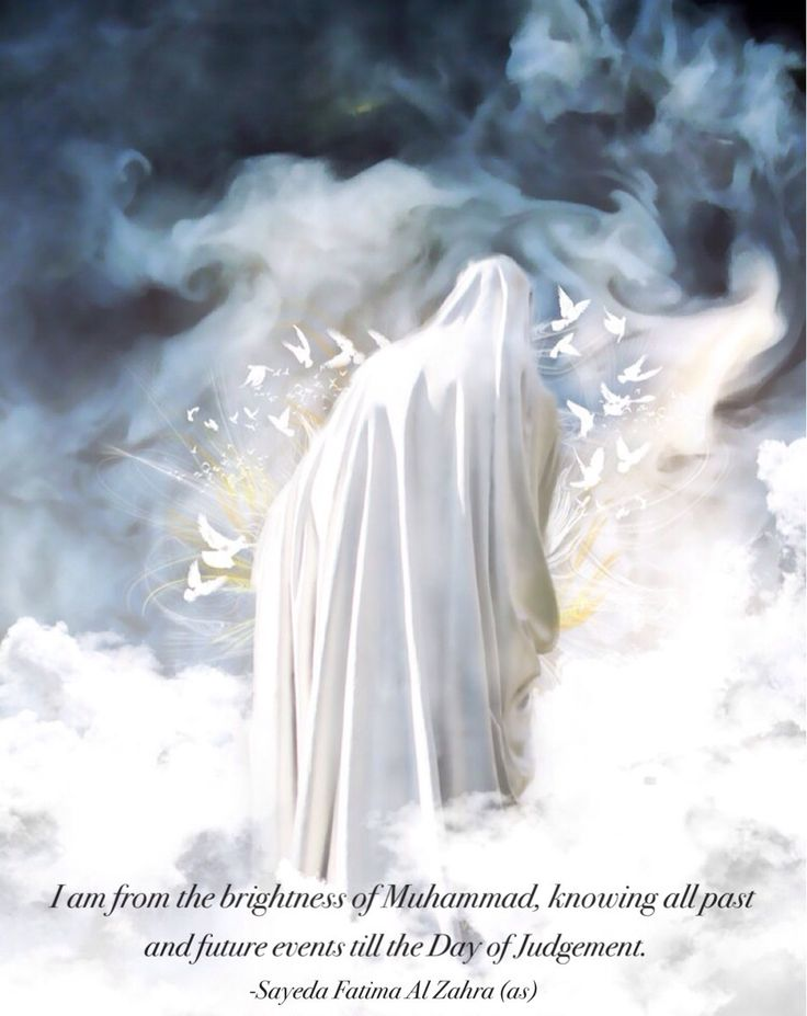samaamantha:  I am from the brightness of Muhammad, knowing all past and future events till the Day of Judgement Sayeda Fatima Al Zahra (sa), Bihar al Anwar v43 p8