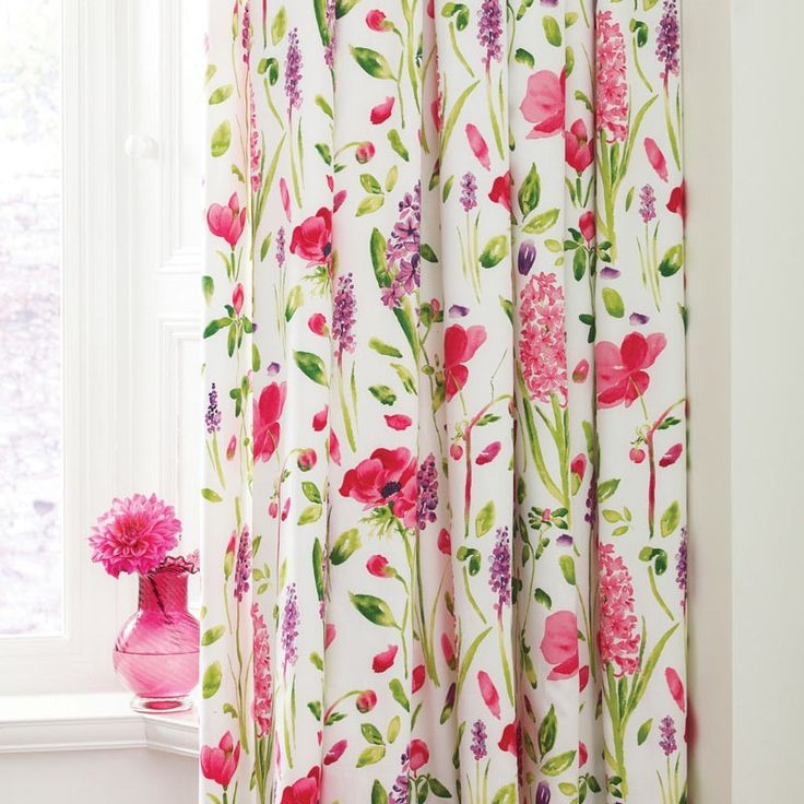 Sanderson Spring Flowers Lined Curtains | Floral Bedding at Bedeck Home