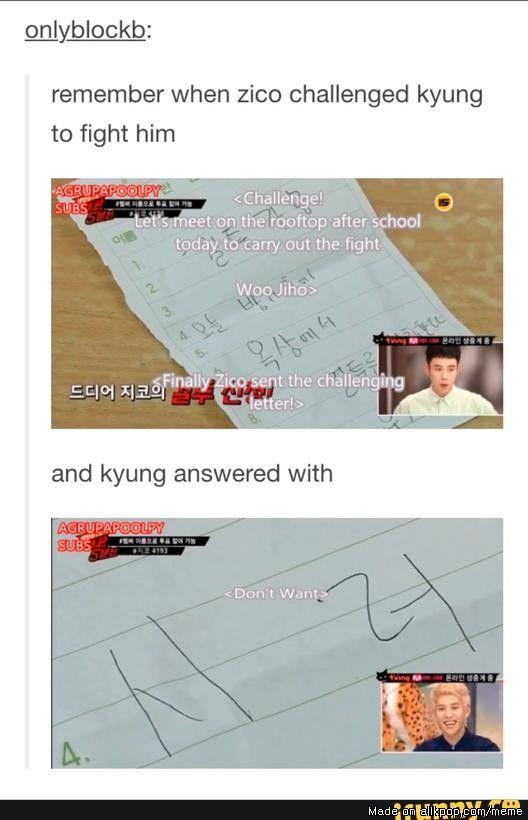 Park Kyung biggest fear: WOO ZICO