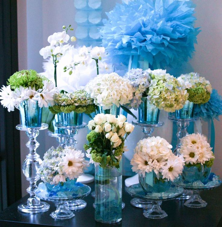 Green and blue baby shower afternoon tea baby shower for Afternoon tea decoration ideas