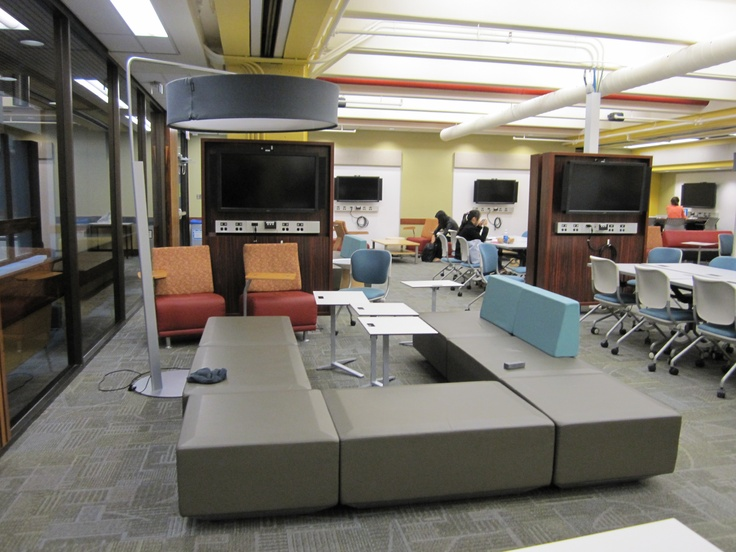 The LINC features many different kinds of seating.