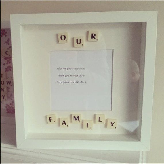 Our Family Scrabble Inspired Photo Frame