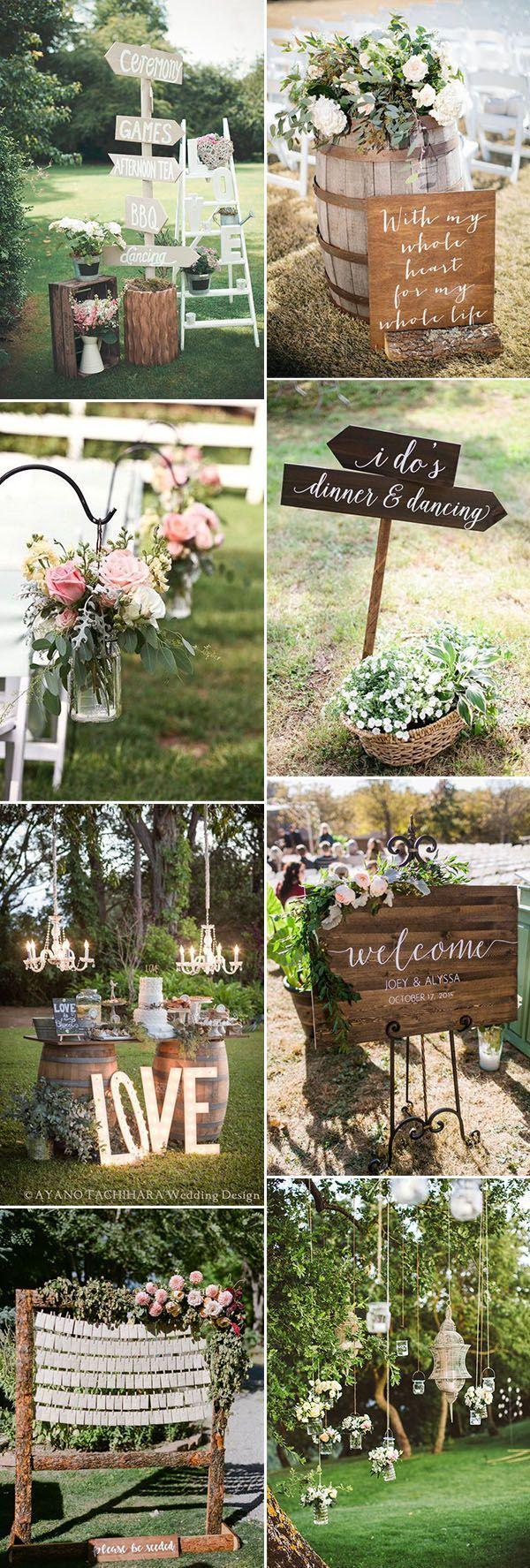 Hochzeitsdekor-Fotos: erstaunliche Gartenhochzeitsdekor-Ideen, die einfach zu