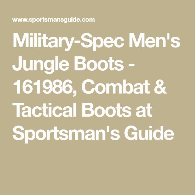 Military-Spec Men's Jungle Boots - 161986, Combat & Tactical Boots at Sportsman's Guide
