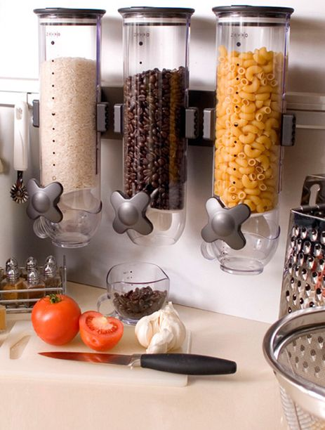 perfect for the kitchen: Spaces, Organization, Houses, Kitchens Ideas, Food Storage, Pantries, Storage Ideas, Food Dispenser, Cereal