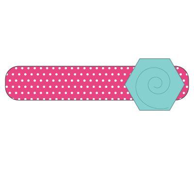 headband: pink polka dot/seafoam flower