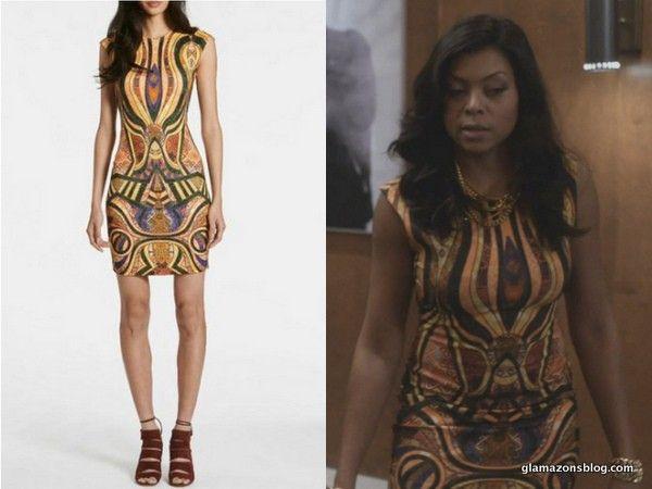 Empire Fox Fashion Cookie Lyons Taraji P Henson Torn By Ronny Kobo Morgan Multi Color Dress