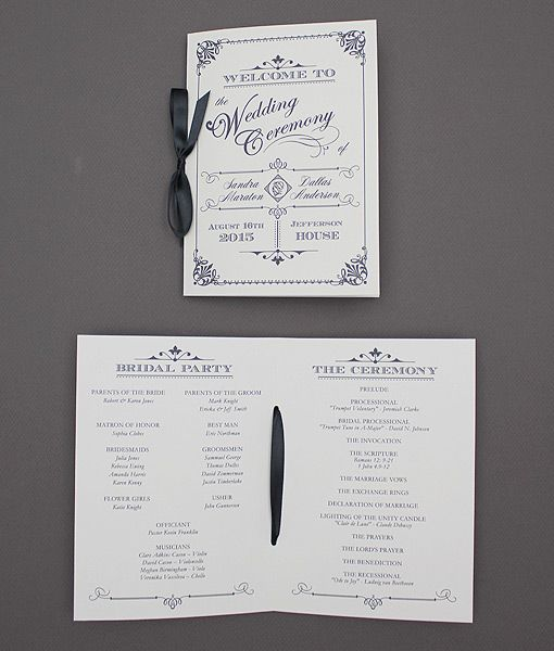ornate vintage type wedding program booklet download zaan idees
