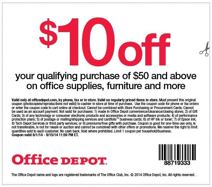 Printable Office Depot Coupons 2018